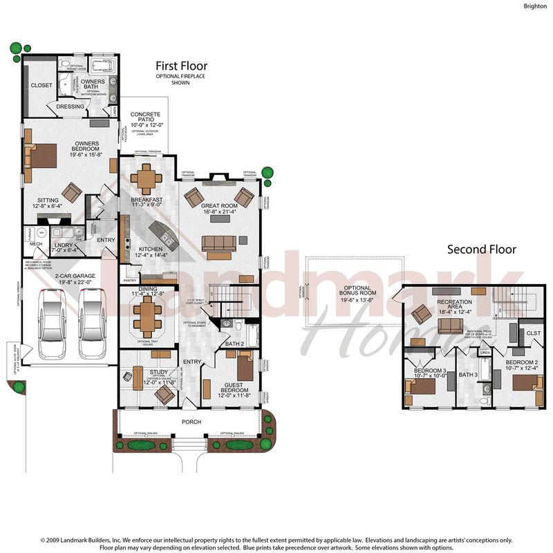 Brighton home plan by landmark homes in available plans for Landmark home plans