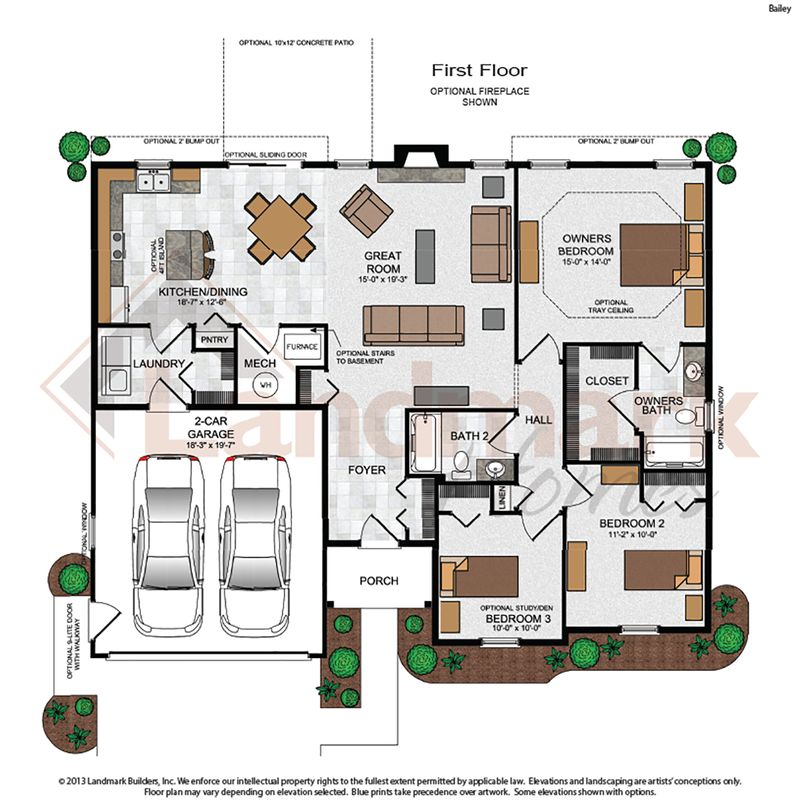 Bailey home plan by landmark homes in available plans for Landmark home plans