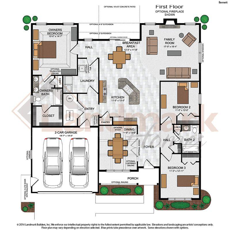 Bennett home plan by landmark homes in available plans for Landmark house plans