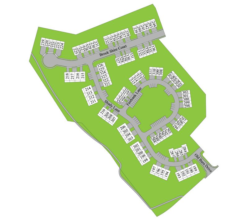 Hanbury Court Site Map