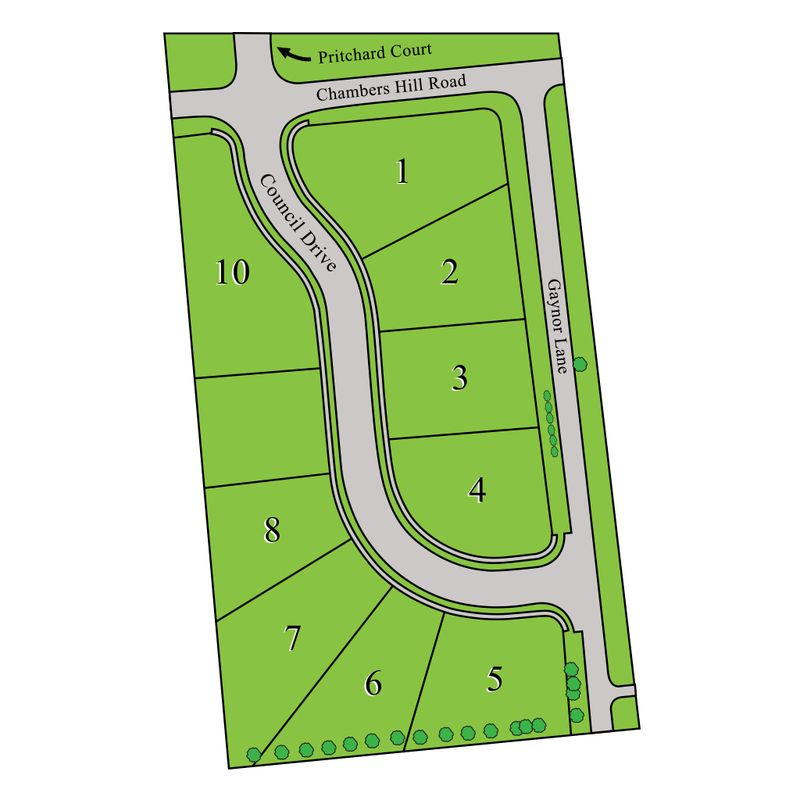 Chambers Pointe Site Map