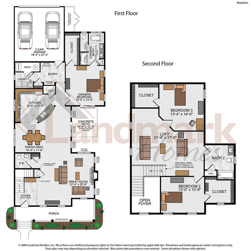 Mapleton Floor Plans