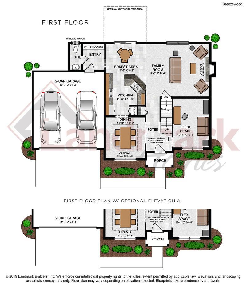 Breezewood First Floor Plan