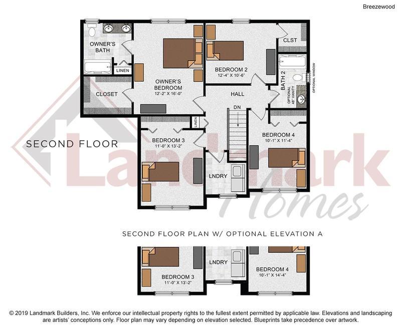 Breezewood Second Floor Plan