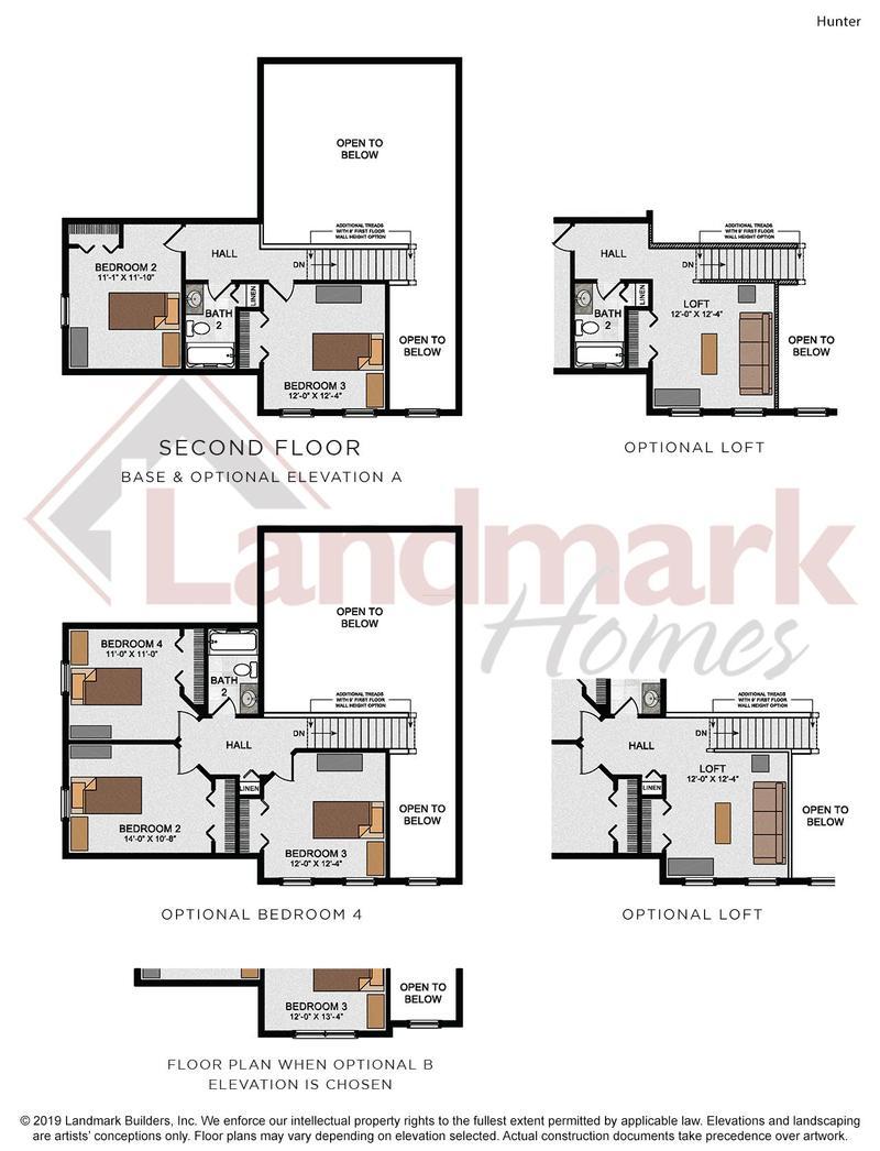 Hunter Second Floor Plan