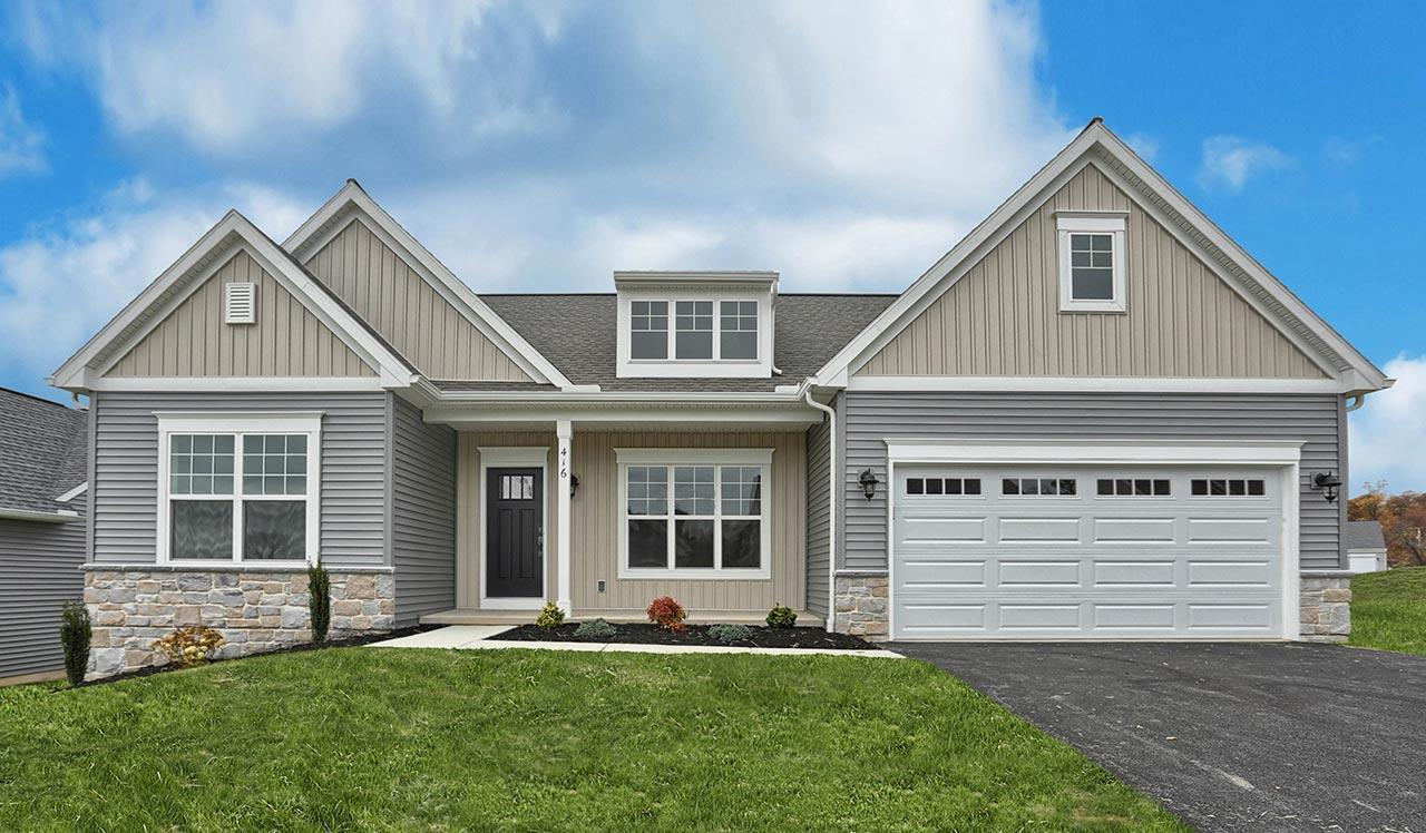 The Northfield Home Plan at The Crossings at Sweetbriar 55+ Community