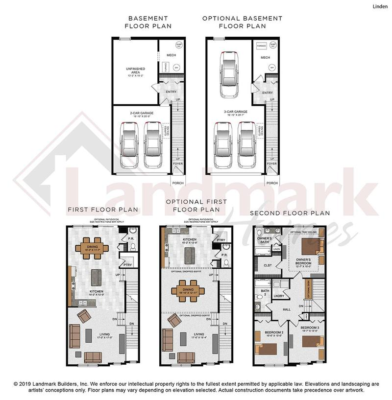 Linden Home Plan by Landmark Homes in Hanbury Court