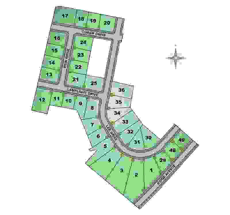 Carriage Hill Site Map