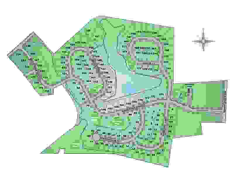 The Crossings at Sweetbriar 55+ Community Site Map