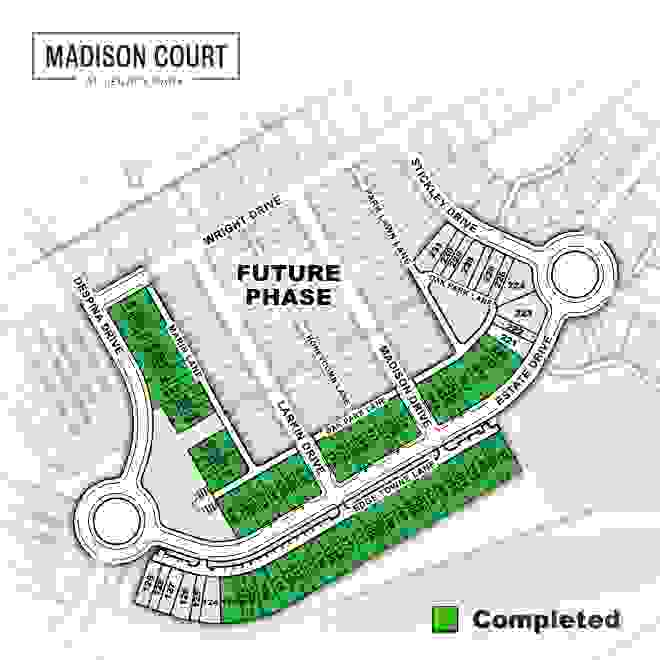 Madison Court Townhome Community Site Map
