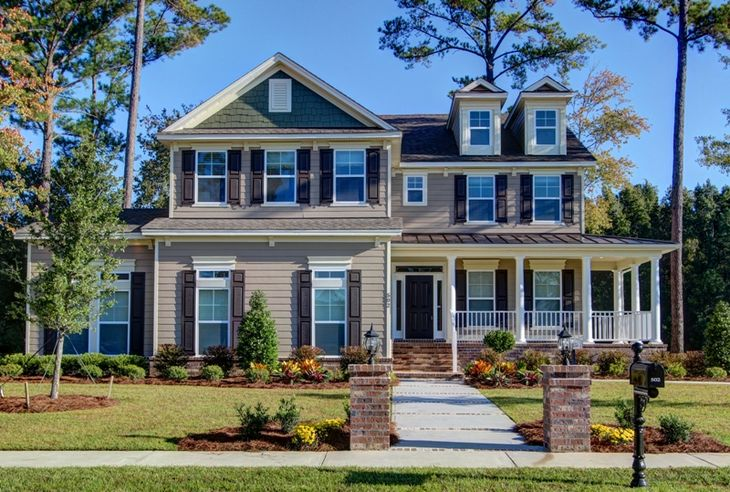 Exterior:Spring Willow Model Home in Forest Lakes