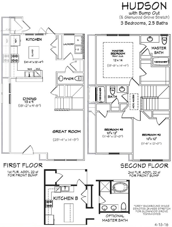 Hudson home plan by landmark 24 homes in berkeley walk for Hudson home designs