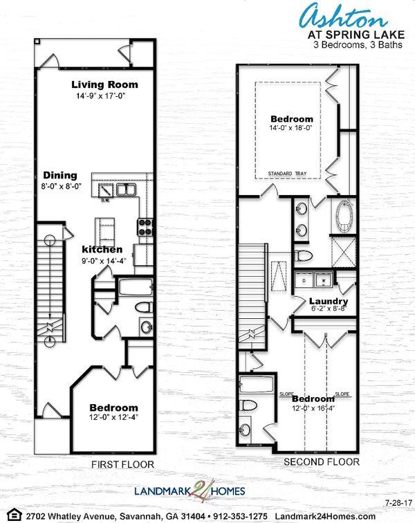 Ashton Townhome Floor Plan