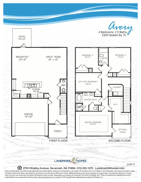 Avery Floor Plan 2 20 17