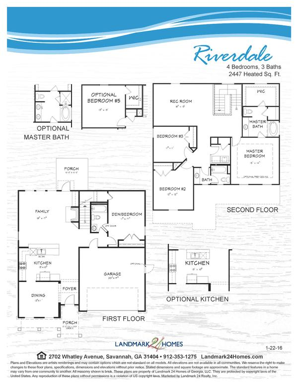 Riverdale Floor Plan 1 22 16