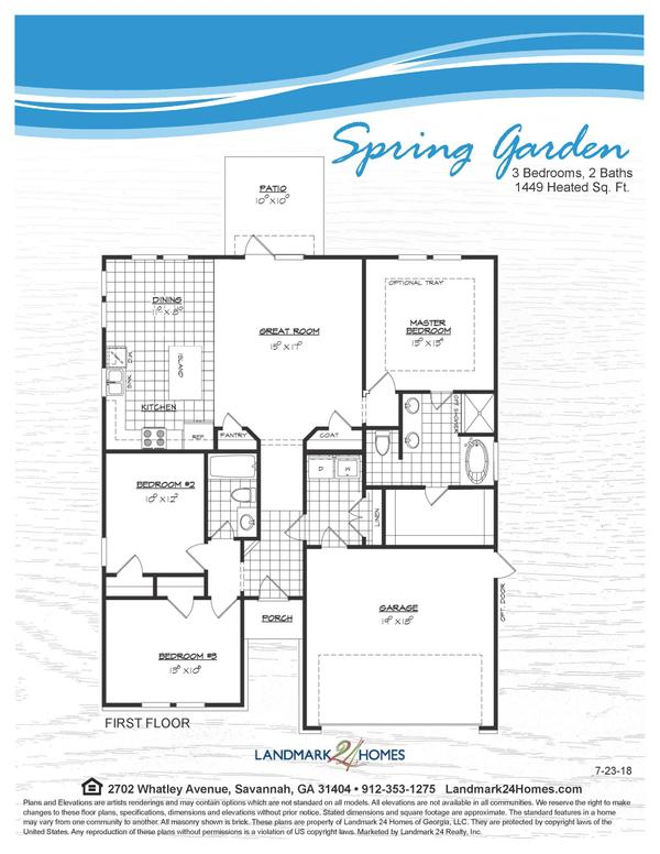 The Spring Garden Floor Plan 7 23 18