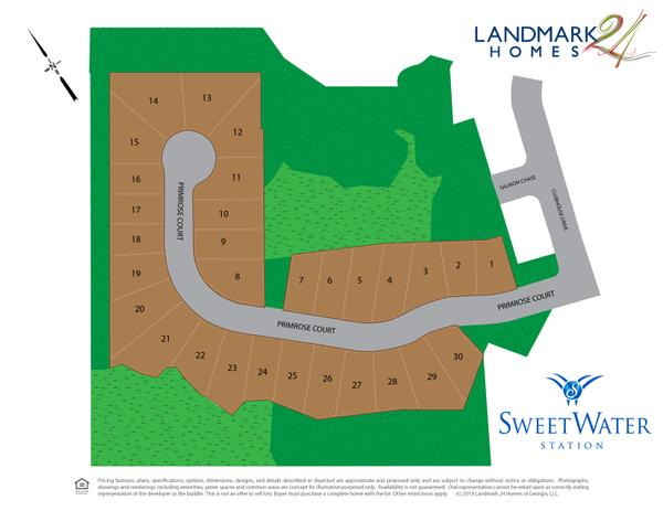 Sweetwater Station Lot Map