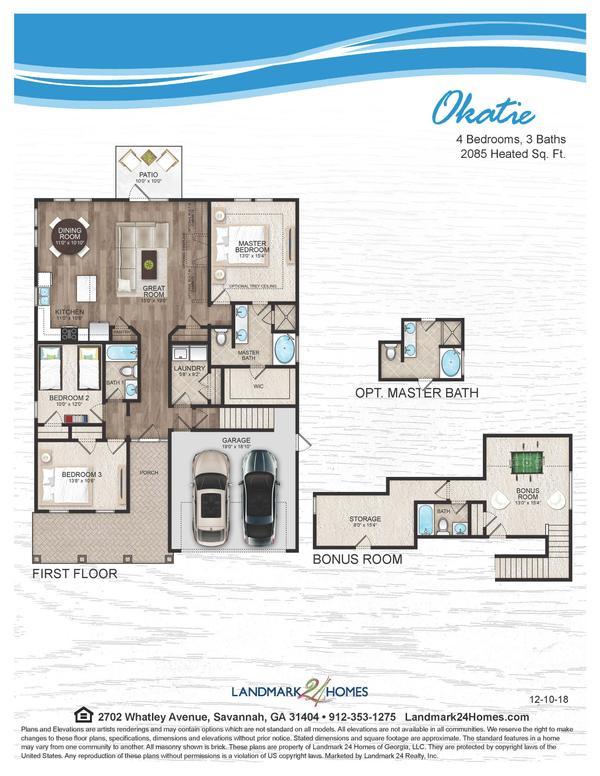 Okatie Floor Plan 12 10 18