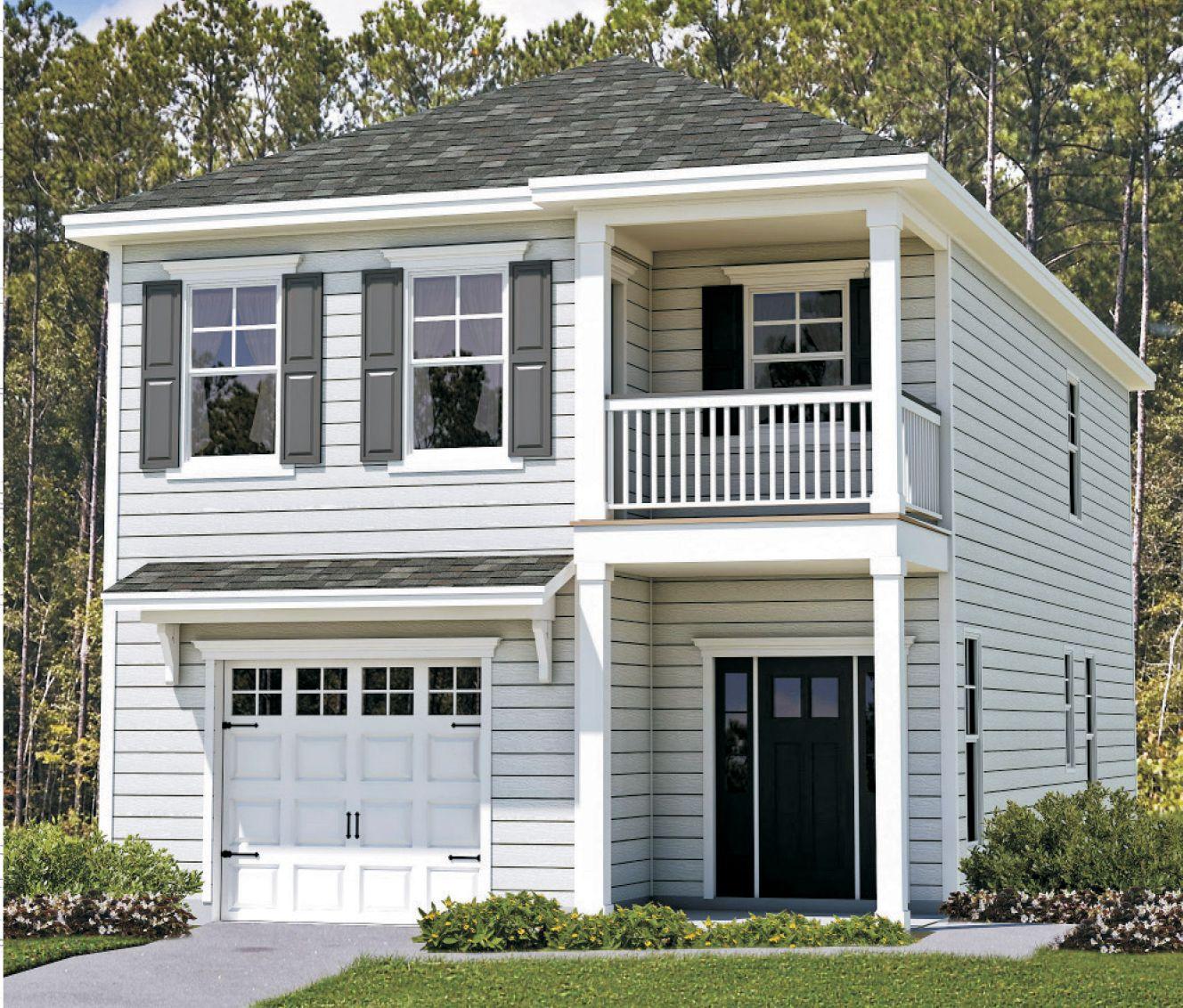 Exterior featured in the Kennebunk By Landmark 24 Homes  in Savannah, GA