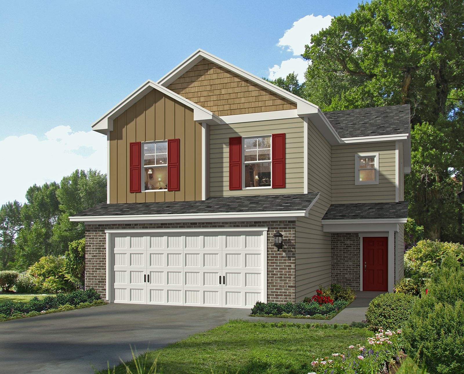 Exterior featured in the Crestview TR By Landmark 24 Homes  in Savannah, GA