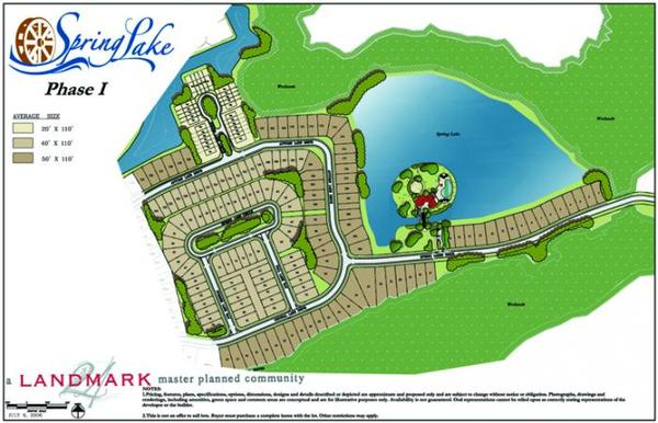 Spring Lake Lot Map