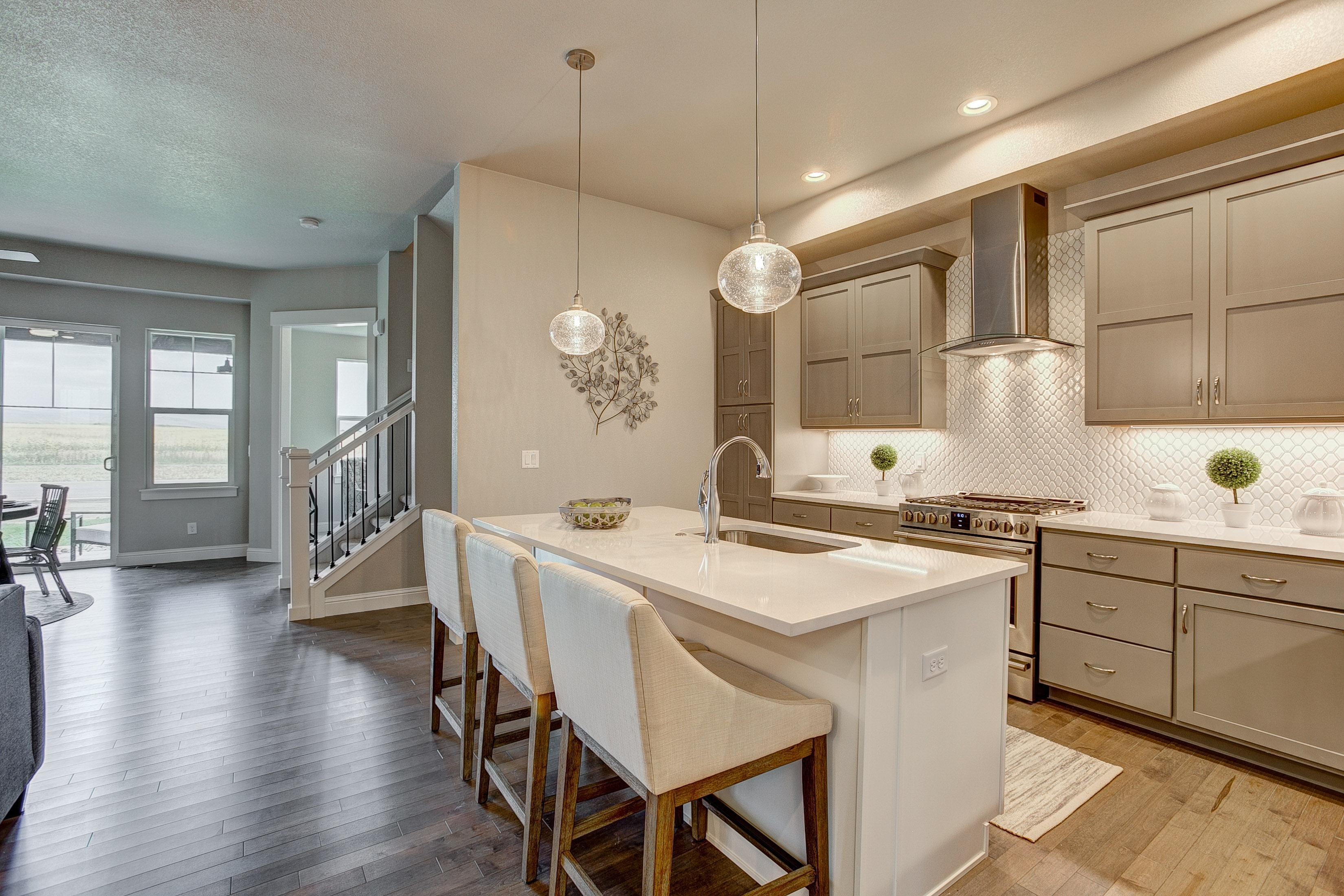 Kitchen featured in the Valencia By Landmark Homes  in Fort Collins-Loveland, CO