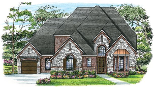 Exterior featured in The Madison By Newport Homebuilders in Dallas, TX