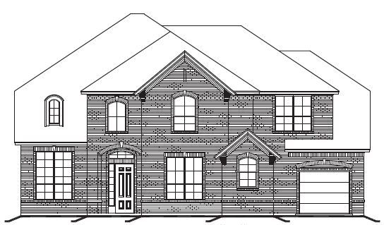 Exterior featured in The Colonial By Newport Homebuilders in Dallas, TX