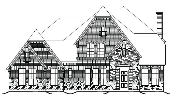 Exterior featured in The Ashworth By Newport Homebuilders in Dallas, TX