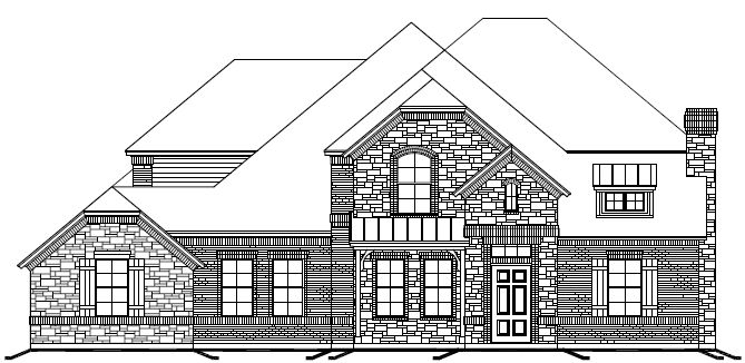 Exterior featured in The Lyndhurst By Newport Homebuilders in Dallas, TX