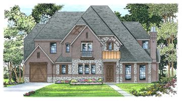Exterior featured in the Concept 5349 By Newport Homebuilders in Dallas, TX