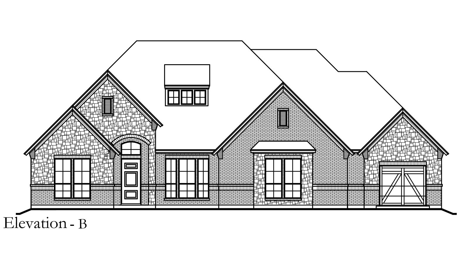 Exterior featured in the Concept 3422 By Newport Homebuilders in Dallas, TX