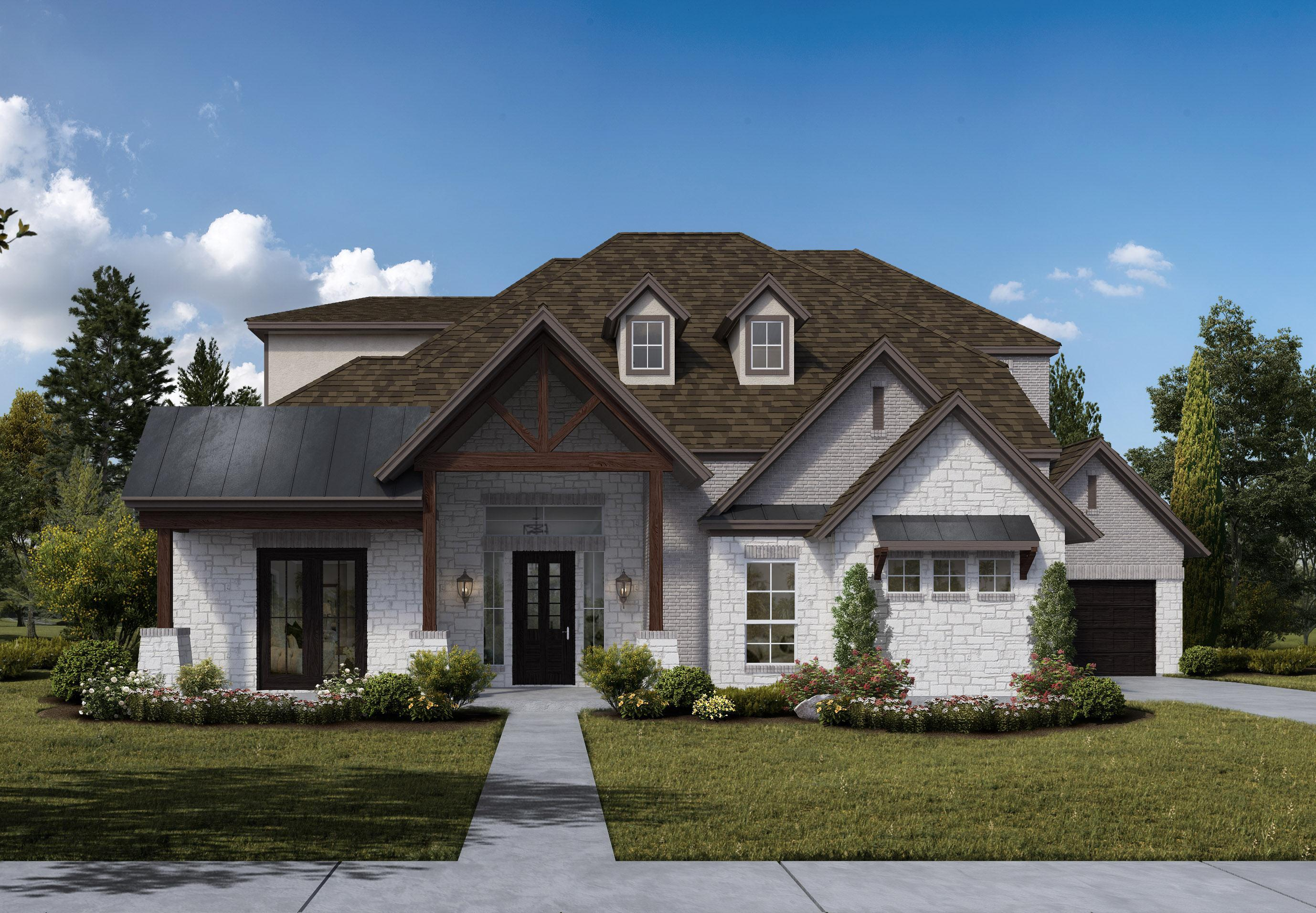 Exterior featured in the Concept 4461 By Newport Light Farms in Dallas, TX