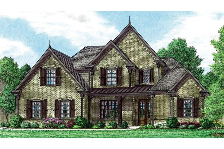"""Front Rendering """"A"""" Elevation"""