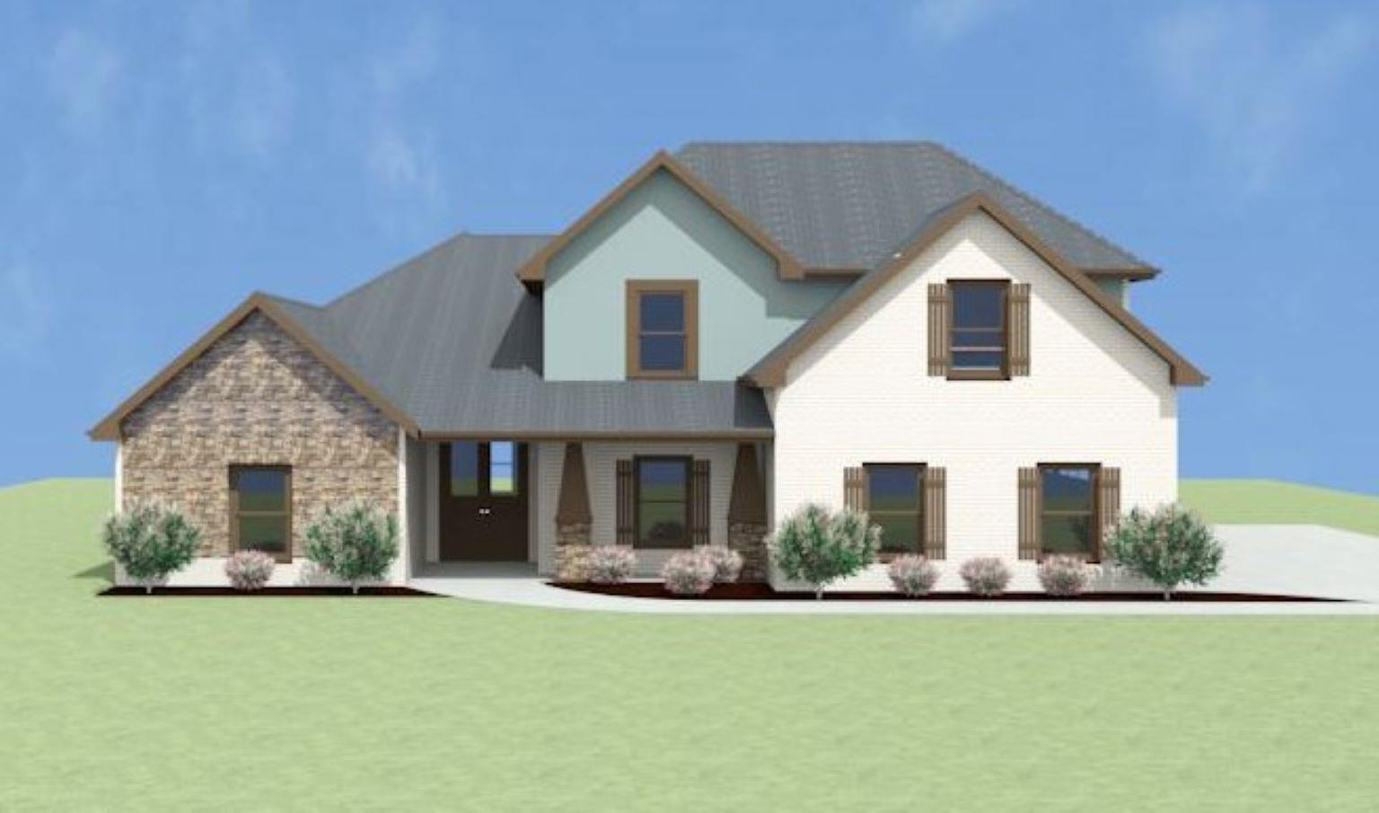 Exterior featured in the Stonehaven A[1] By Legacy Premier Homes  in Huntsville, AL