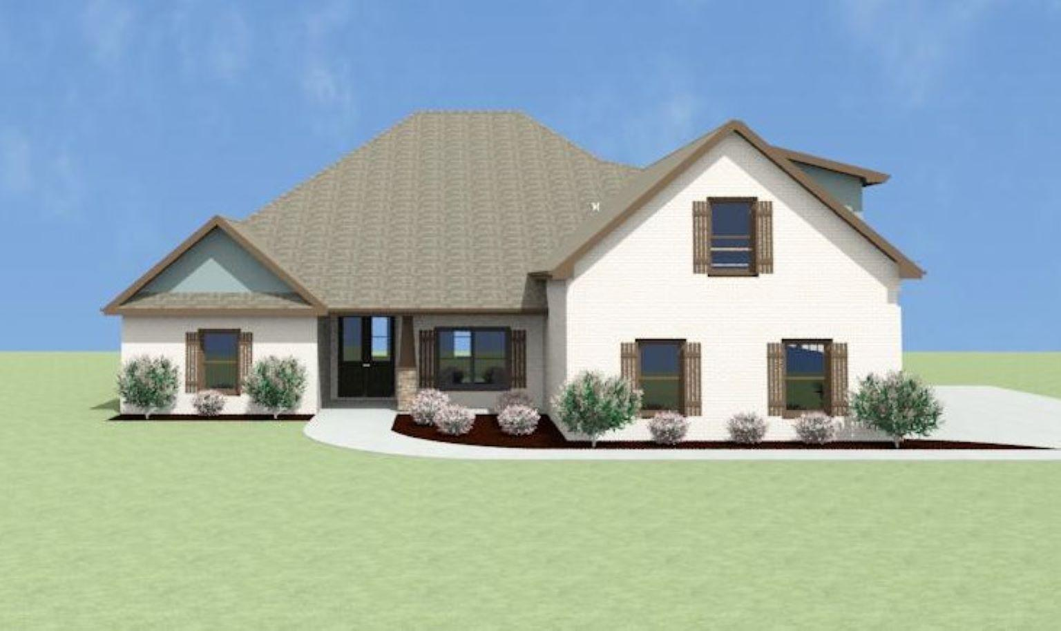 Exterior featured in the Durham B[1] By Legacy Premier Homes  in Huntsville, AL