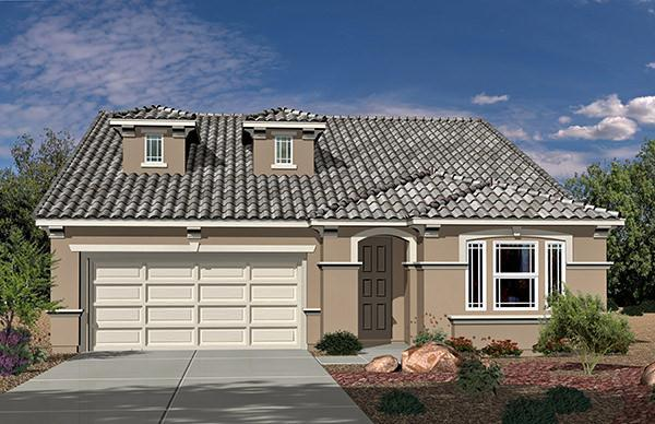 Exterior featured in the Residence 2530 By Legacy Homes in Las Vegas, NV