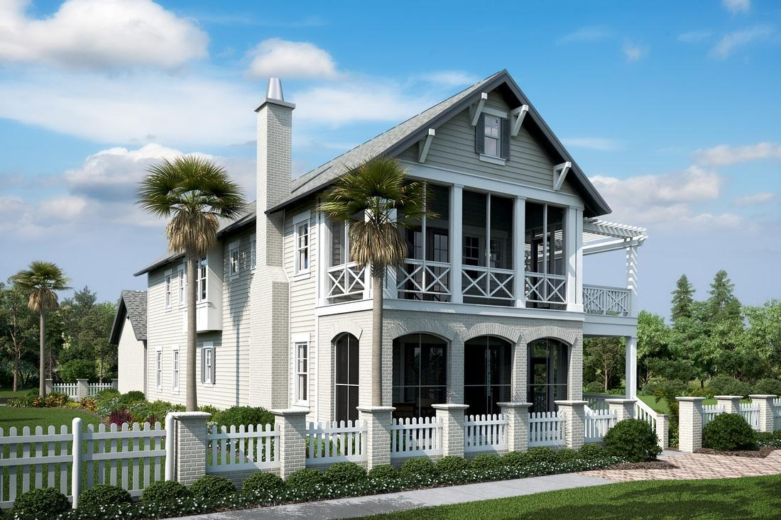 Exterior featured in The Charleston By Destin Custom Home Builders in Destin-Fort Walton Beach, FL