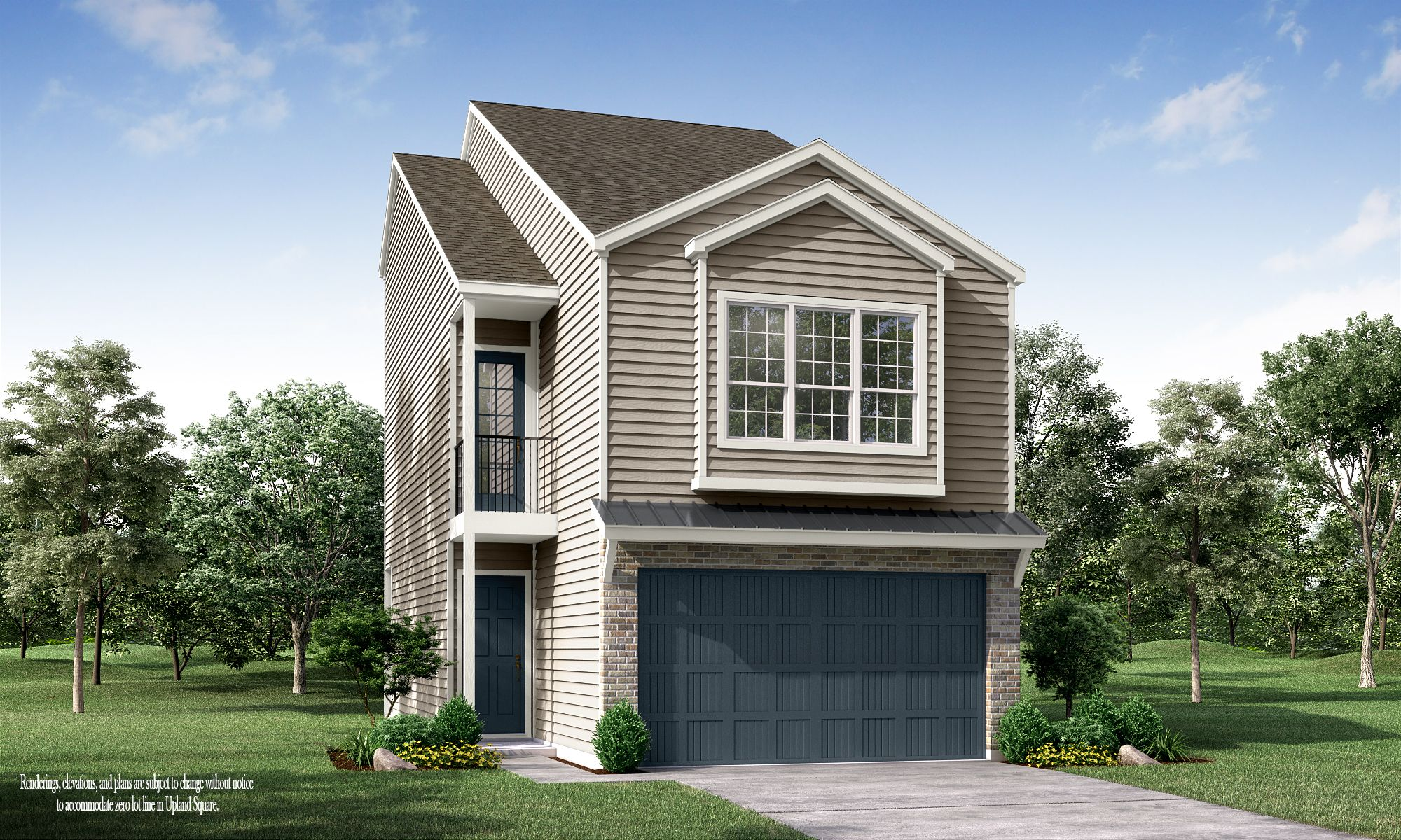 Exterior featured in the Upland Square - The Willow By Princeton Classic Homes in Houston, TX