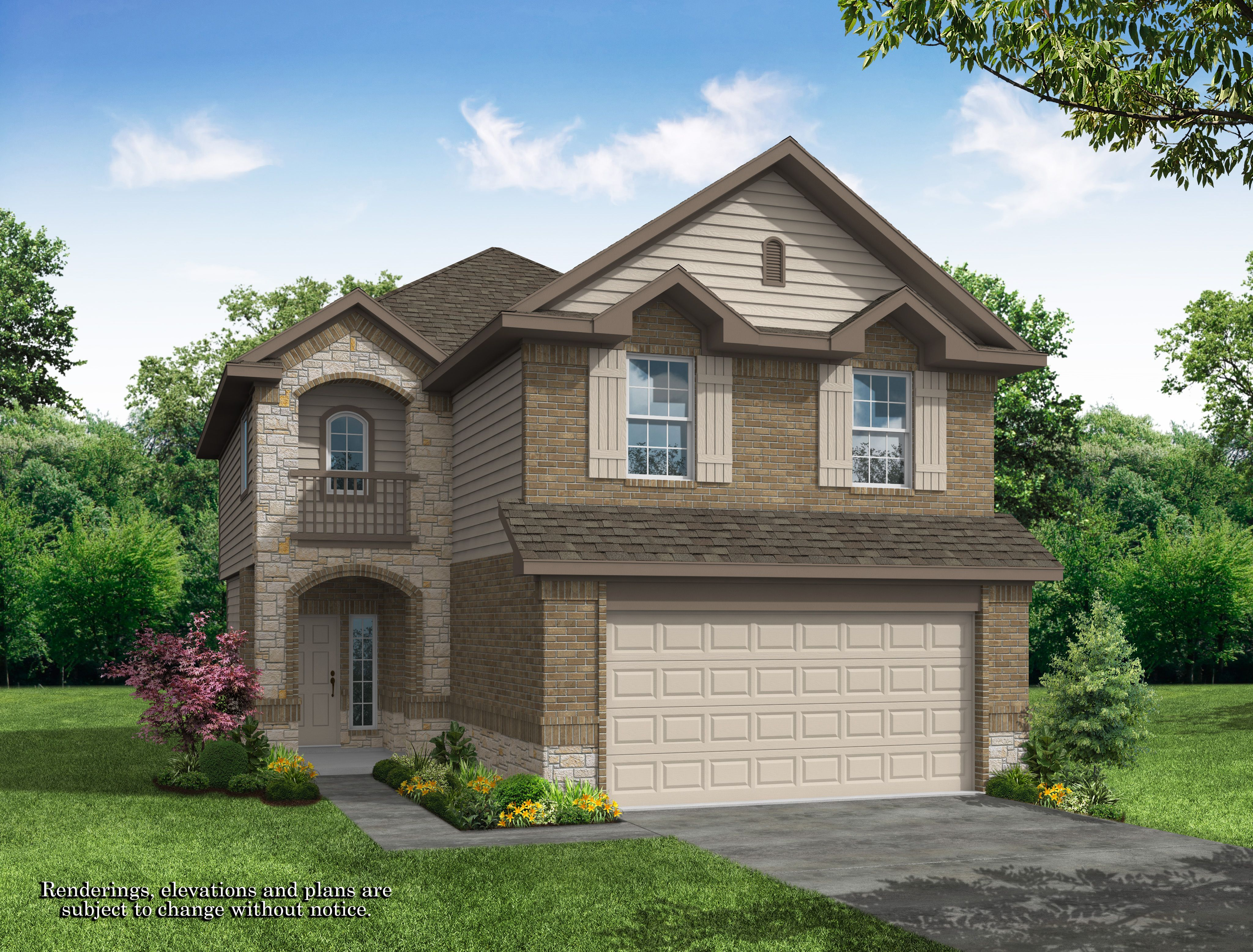 Exterior featured in the Alamosa Springs - Devonhurst II By Legend Homes