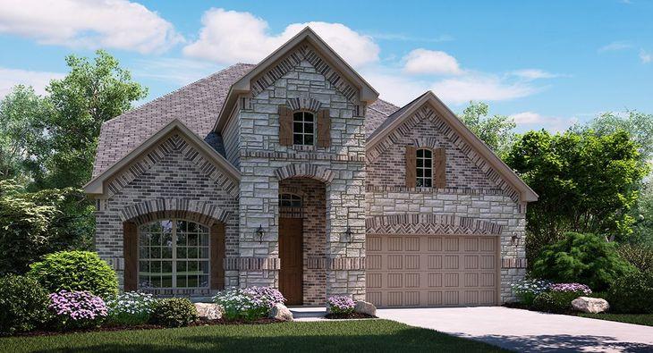 Mackenzie B Elevation with brick and stone