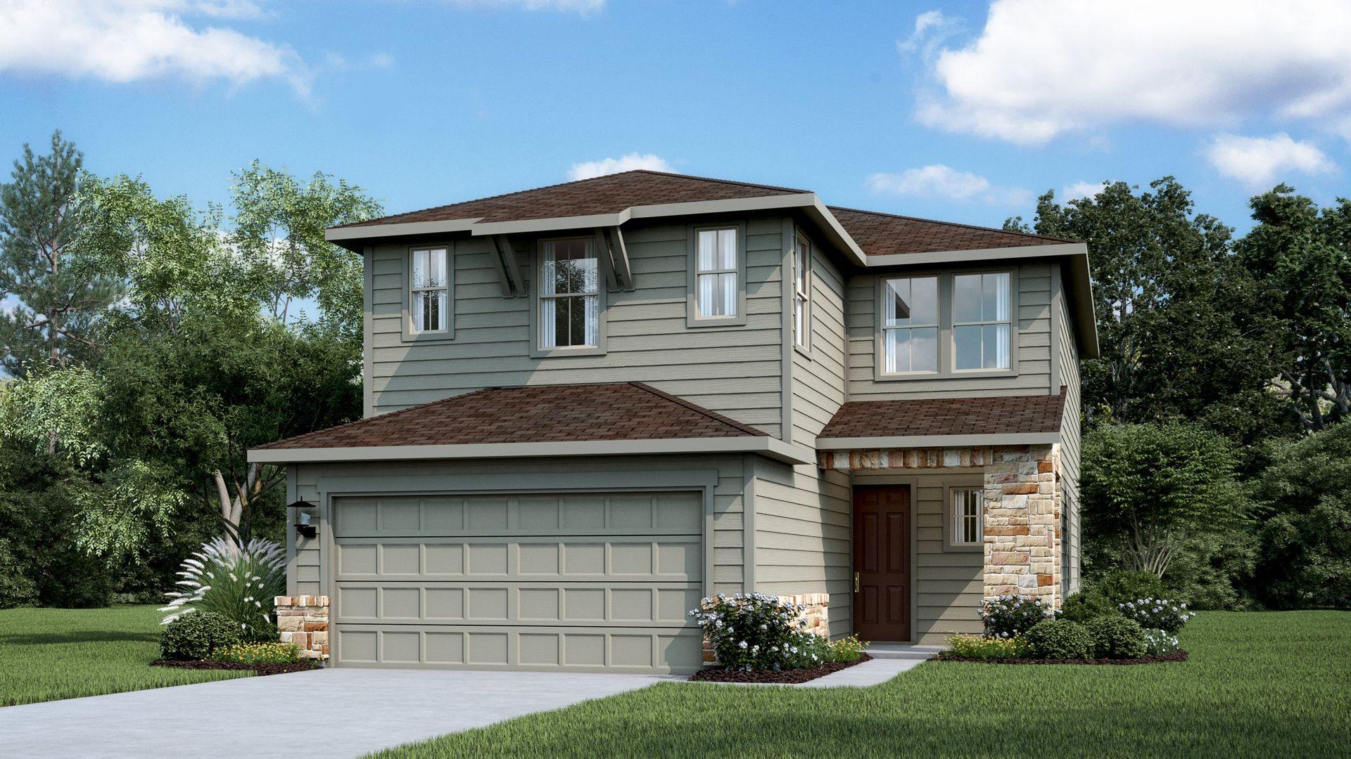 13521 Feldspar Drive (Montebello), Austin, Texas 78729  Montebello Plan