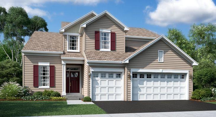 Galveston B shown with optional brick - Model Home
