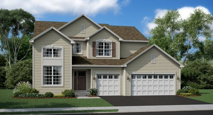 Raleigh B shown with optional brick - Model Home