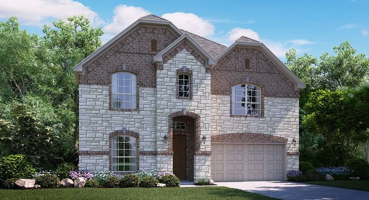 Bryson B Elevation with brick and stone