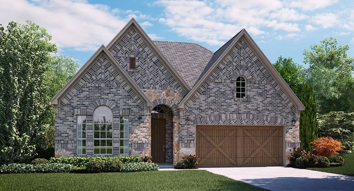 Astaire A elevation with brick and stone