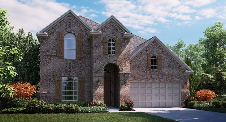 Livingstone A Elevation with brick