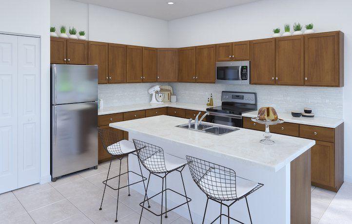 Kitchen-in-Aqua-at-Copper Creek - Signature Collection-in-Port Saint Lucie