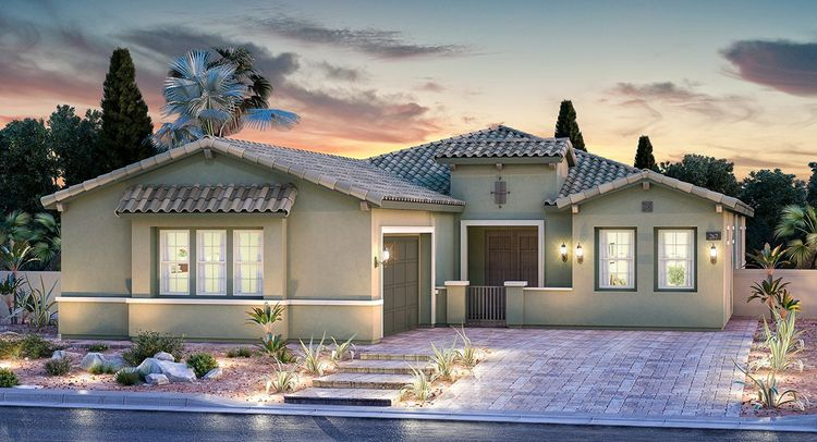 Exterior featured in the Hampton By CalAtlantic Homes in Las Vegas, NV