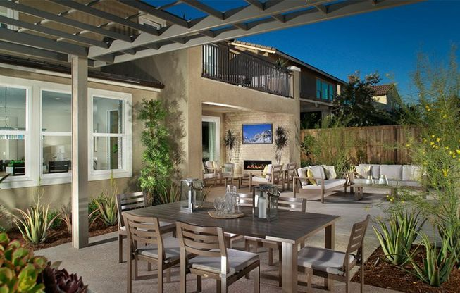 New Homes in Chula Vista. Residence 1 Patio